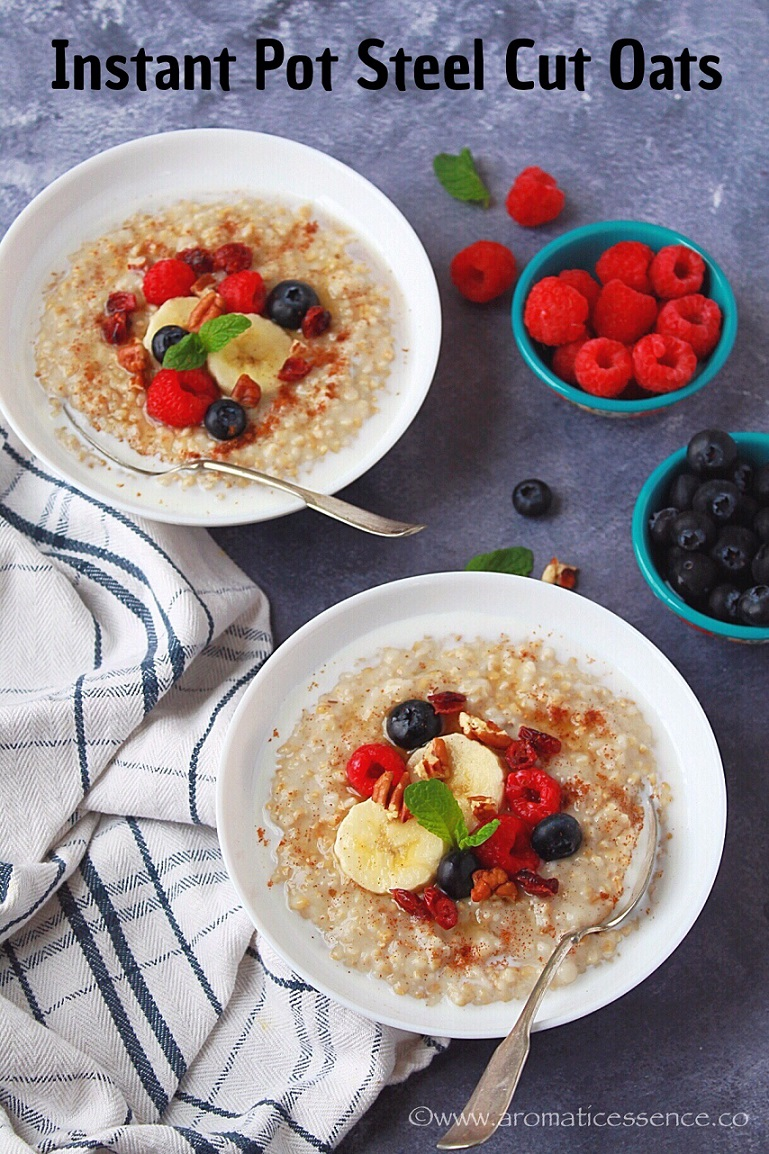 How To Cook Steel Cut Oats {In The Instant Pot}